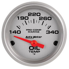 Autometer Electric Oil Temperature Gauge Ultra Lite Marine