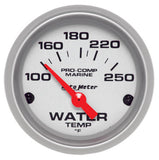 Autometer Electric Water Temperature Gauge Ultra Lite Marine