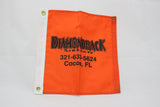 Orange Flag with Diamondback Logo