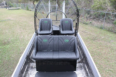 Custom Seat Covers--Black with Green Vinyl
