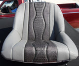 Custom Seat Covers--Gray Ostrich and Black Gator