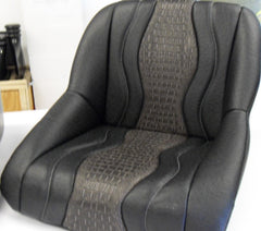 Custom Seat Covers--Black Ostrich and Gray Gator