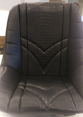 Custom Seat Covers--Black Ostrich and Black Gator