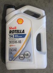 ROTELLA FULL SYNTHETIC CJ RATING 15W40 OIL, GALLON