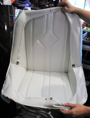 White Single Seat Cushions with Rain Covers