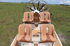 Custom Seat Covers--Tan and Brown Vinyl