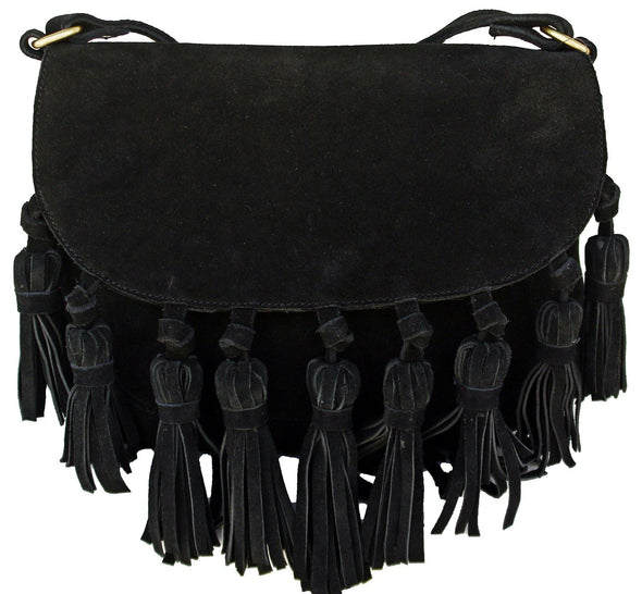 Suede Tassel Purses For Women, Leather anniversary gifts for her