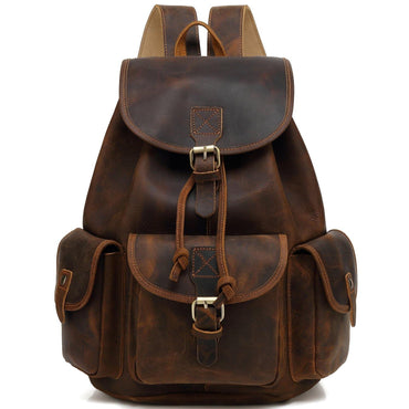 leather backpack for laptops