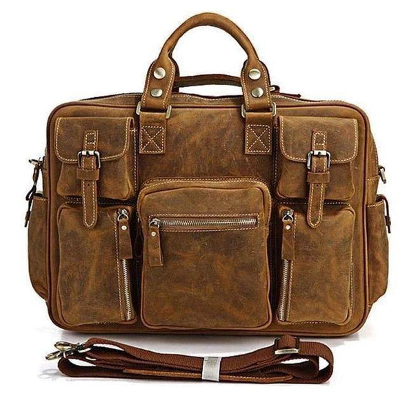 Unisex leather messenger bags, Genuine leather bags