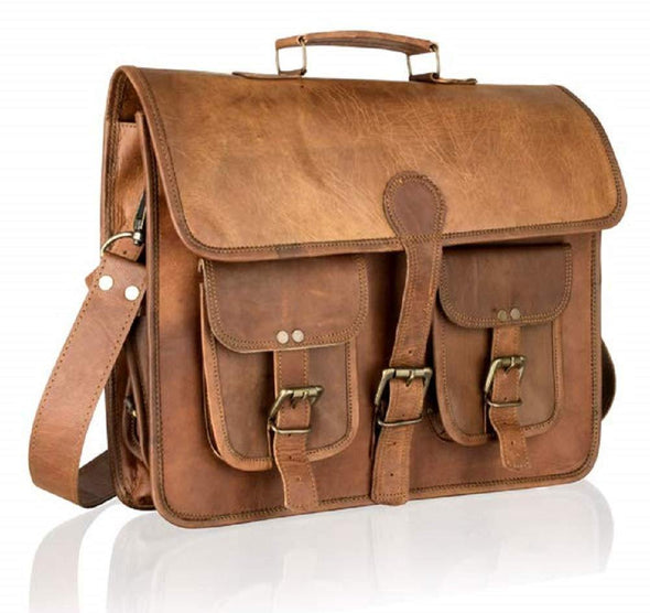 Unisex leather messenger bags, Leather messenger bags for women