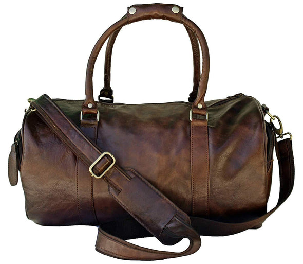 Buffalo leather duffle bag, leather bags for men
