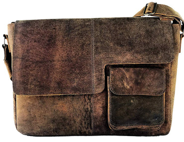 Distressed Leather Laptop Bag The Hermosa Design, genuine leather laptop bag for men and women