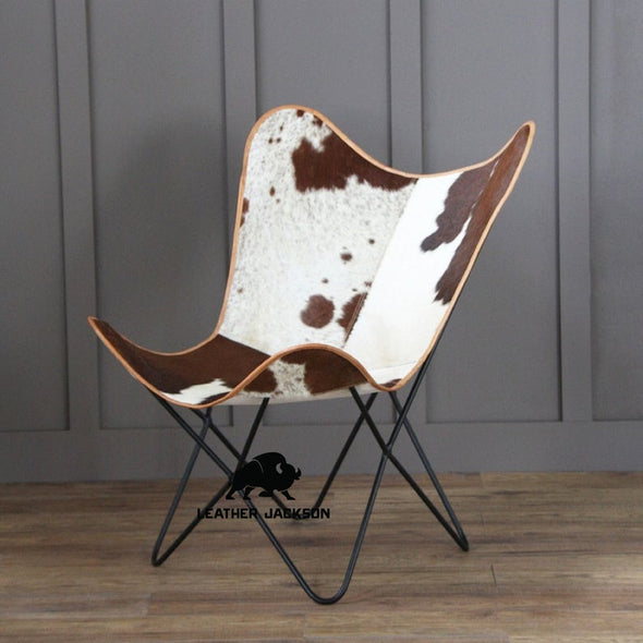 cowhide butterfly chair, leather chairs for home