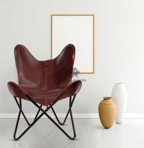 Handmade genuine leather butterfly chair, best leather butterfly chair