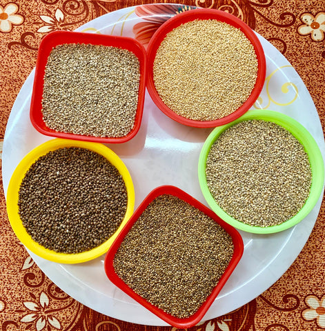 Natural Millet Rice and SEEDS from Vintage Farmers-ManaVelugu