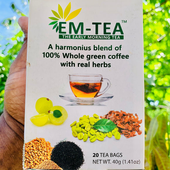 EM Tea-Early Morning Tea-20 Tea Bags-30 Grams Pack