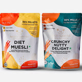 Combo Pack -1 Millet Muesli-1 Crunchy Nutty Delight