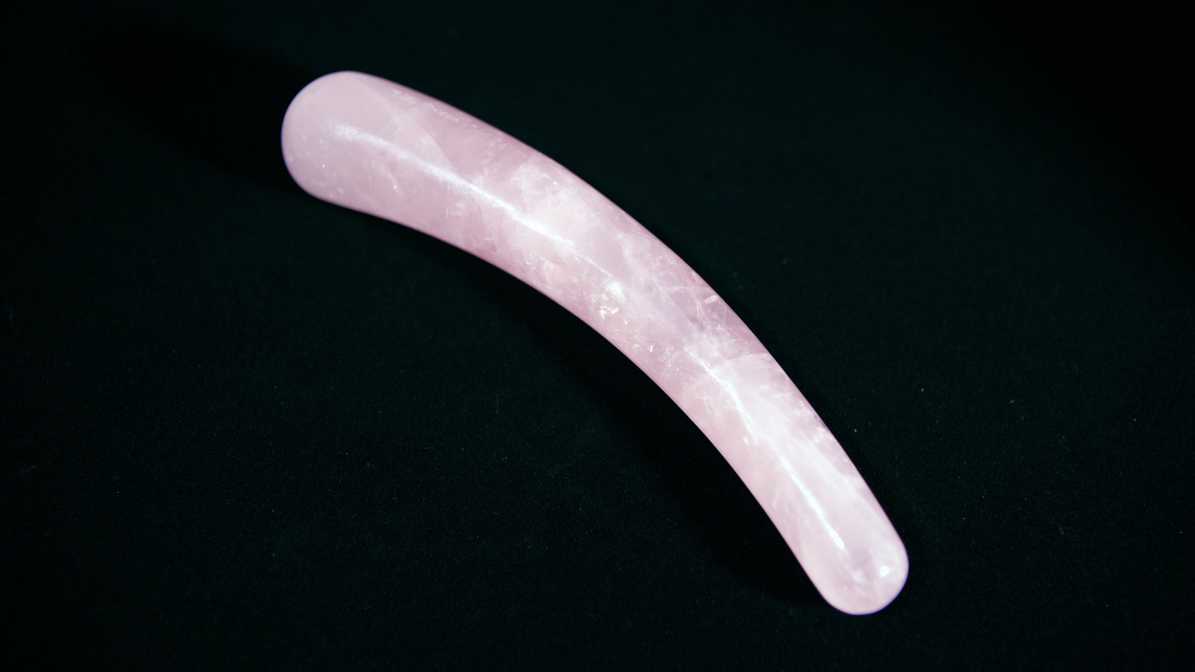 ROSE QUARTZ SLIDE YONI WAND