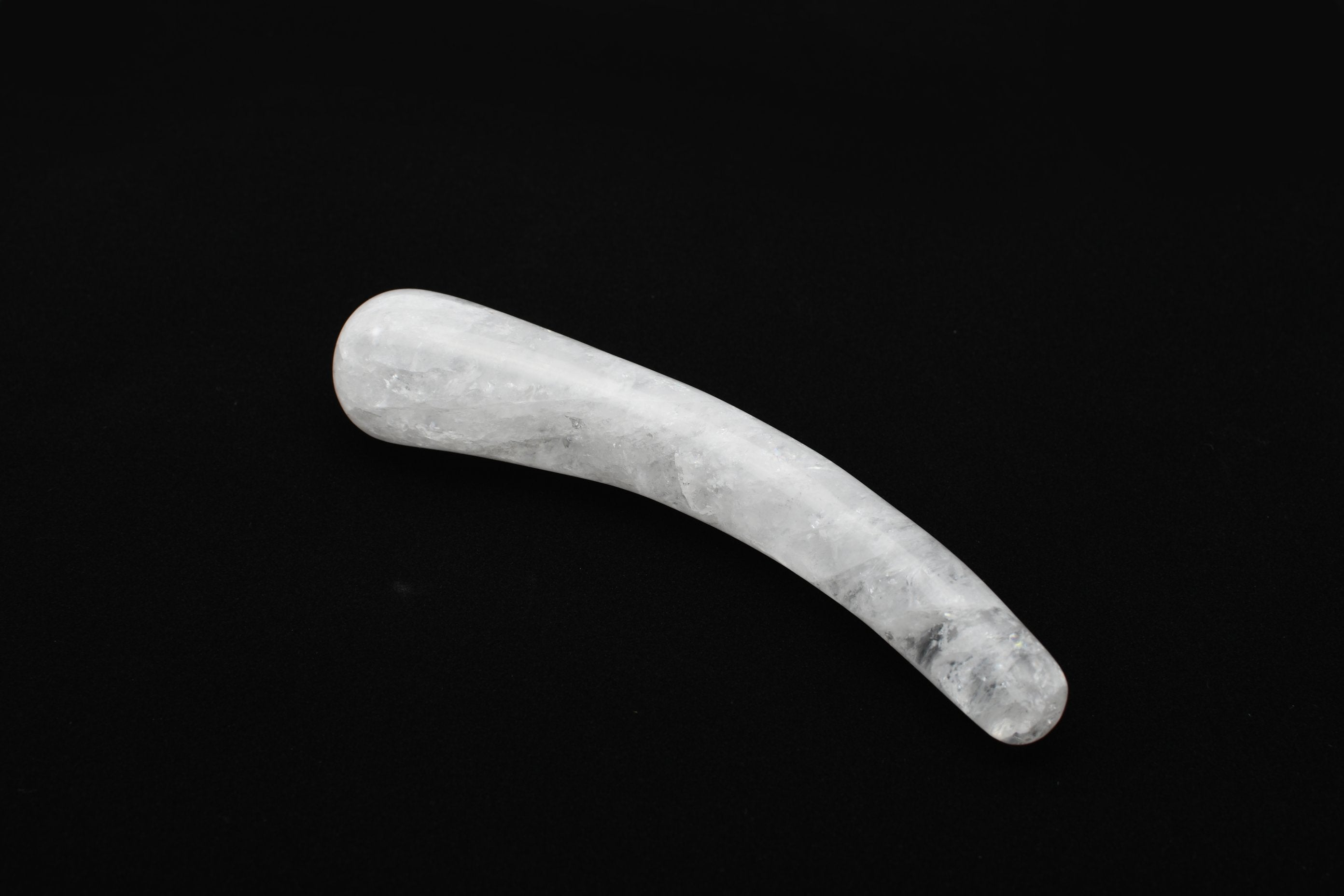 CLEAR QUARTZ SLIDE YONI WAND