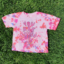 Load image into Gallery viewer, You Are Loved (Tie Dye Edition) Pink/Red - TODDLER Heavy Cotton Tee