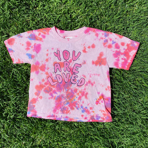 You Are Loved (Tie Dye Edition) Pink/Red - TODDLER Heavy Cotton Tee