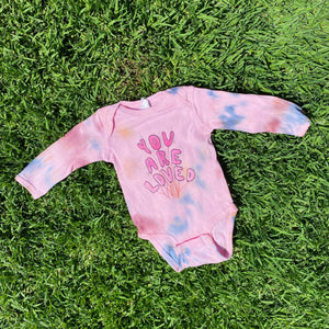 You Are Loved (Tie Dye) - Infant Long Sleeve Bodysuit