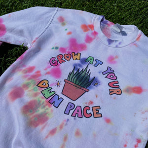 Grow At Your Own Pace (Tie Dye Edition) - Unisex Heavy Blend Crewneck Sweatshirt