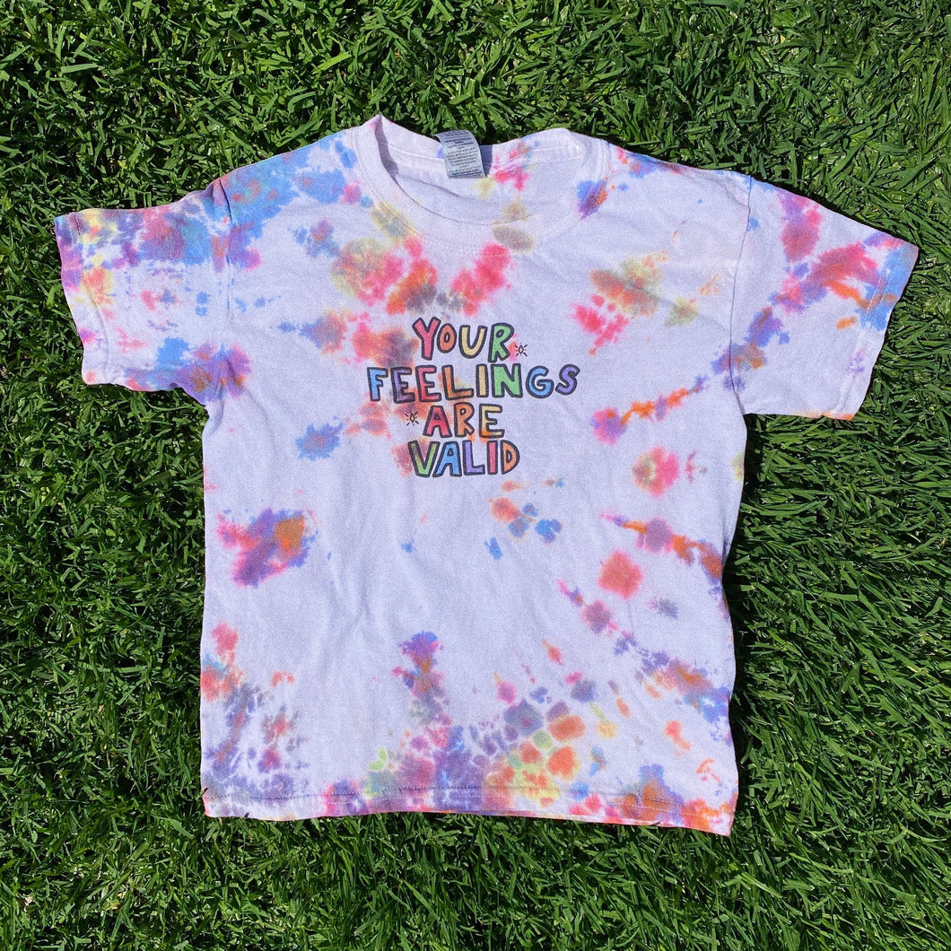 Your Feelings Are Valid (Tie Dye Edition) - YOUTH Heavy Cotton Tee