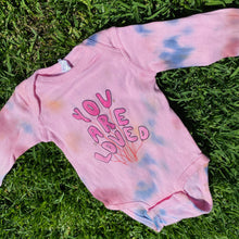 Load image into Gallery viewer, You Are Loved (Tie Dye) - Infant Long Sleeve Bodysuit