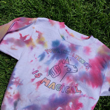 Load image into Gallery viewer, Your Existence Is Magical (Tie Dye Edition) - YOUTH Crewneck Sweatshirt