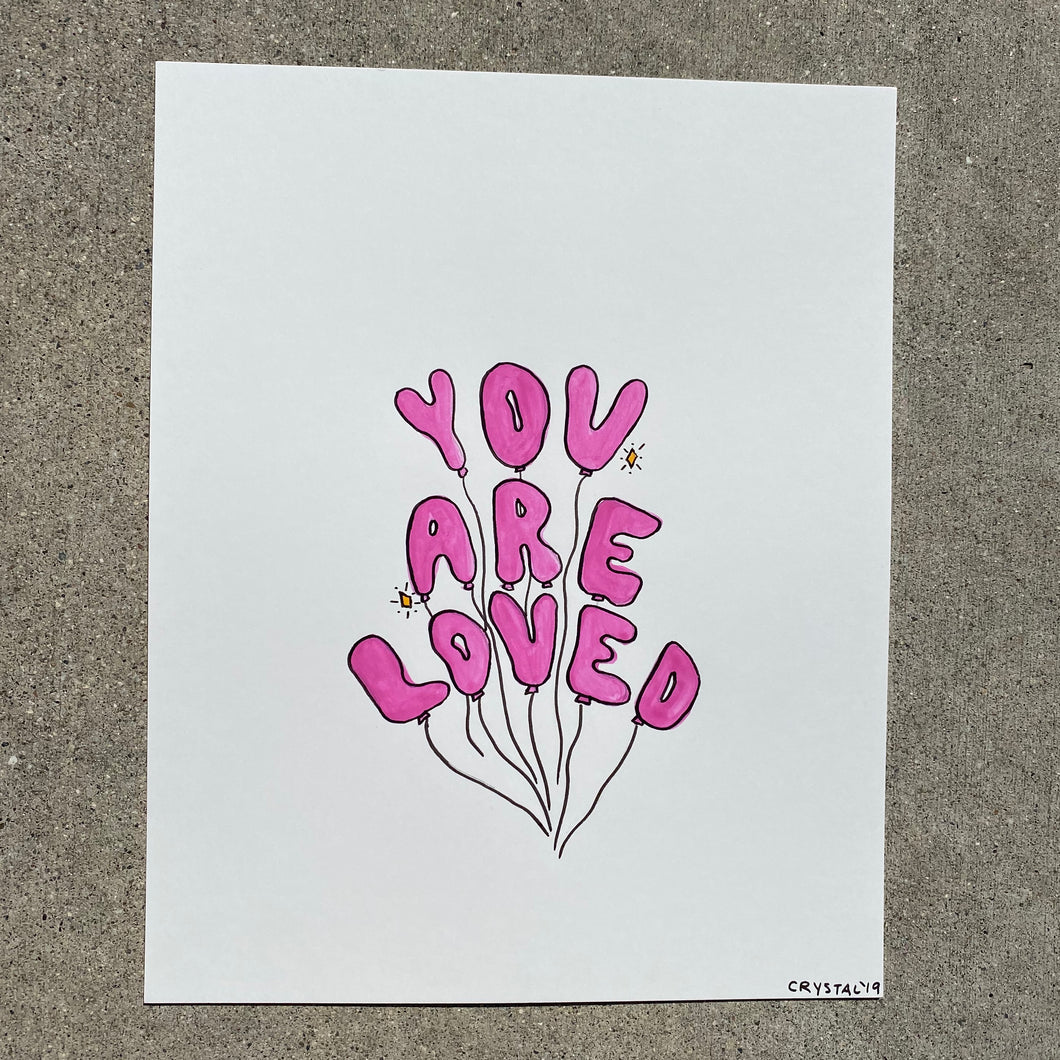 You Are Loved - 8x10 Original Watercolor