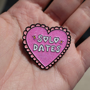 Solo Dates - Limited Edition Glitter Enamel Pin