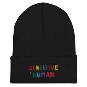 Sensitive Human - Cuffed Beanie