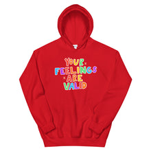 Load image into Gallery viewer, Your Feelings Are Valid (Black Edition) - Unisex Hoodie