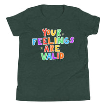 Load image into Gallery viewer, Your Feelings Are Valid (Black Edition) - Youth Short Sleeve T-Shirt