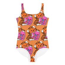 Load image into Gallery viewer, You Are Stronger Than Your Fears - All-Over Print Kids Swimsuit