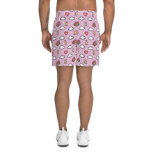 Load image into Gallery viewer, Hearts, Rainbows, Clouds and Stars - Men's Athletic Long Shorts