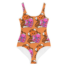 Load image into Gallery viewer, You Are Stronger Than Your Fears! - All-Over Print Youth Swimsuit