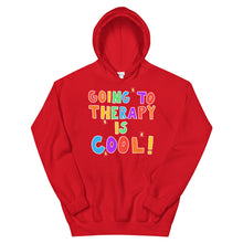 Load image into Gallery viewer, Going To Therapy Is Cool! (Black Edition) - Unisex Hoodie