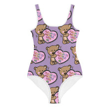 Load image into Gallery viewer, Please Be Gentle With Me - All-Over Print Youth Swimsuit