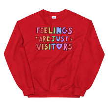 Load image into Gallery viewer, Feelings Are Just Visitors - Unisex Sweatshirt