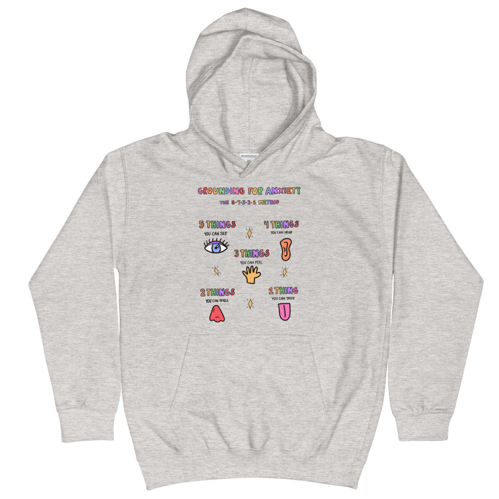 Grounding For Anxiety - Kids Hoodie