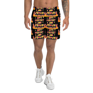 Not Perfect And Proud! - Men's Athletic Long Shorts