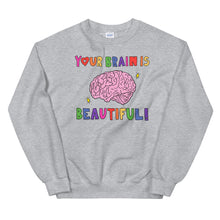 Load image into Gallery viewer, Your Brain Is Beautiful! - Unisex Sweatshirt