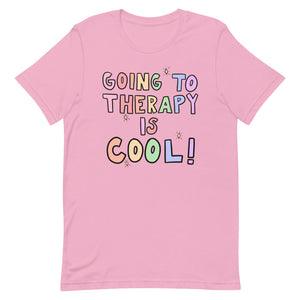 Going To Therapy Is Cool! (Pastel Edition) - Short-Sleeve Unisex T-Shirt