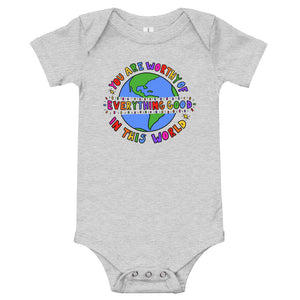 You Are Worthy - Short Sleeve Onesie