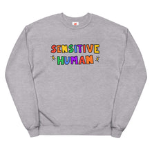 Load image into Gallery viewer, Sensitive Human - Unisex Fleece Sweatshirt