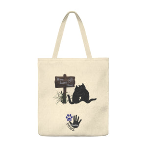 """Home Sweet Home"" Cat Four Healing Paws Shoulder Tote Bag"