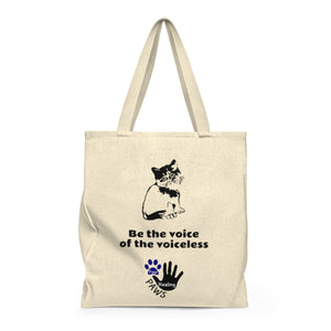 """Be the voice of the voiceless"" Four Healing Paws Shoulder Tote Bag"