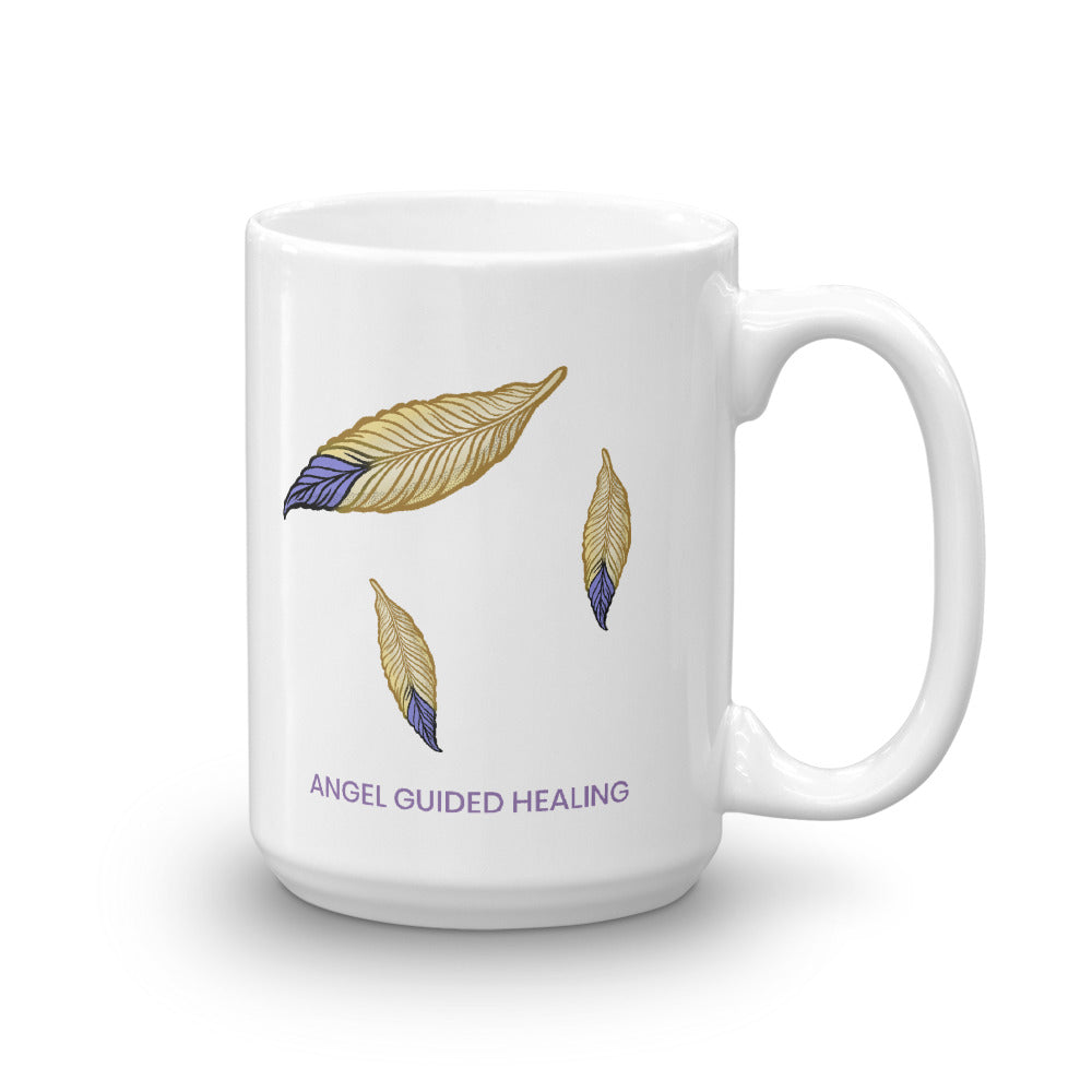 1- Angel Guided Healing - Falling Feathers Mug